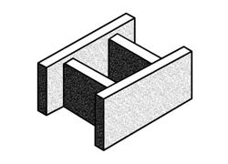 grey block 30.91 'H' block