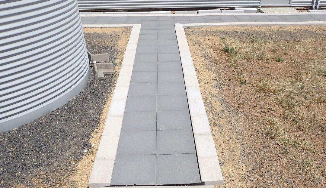 Paver and Edge Block Pathway