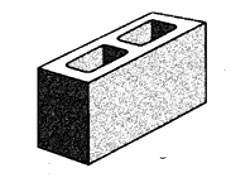 grey block 15.22 hollow - corner