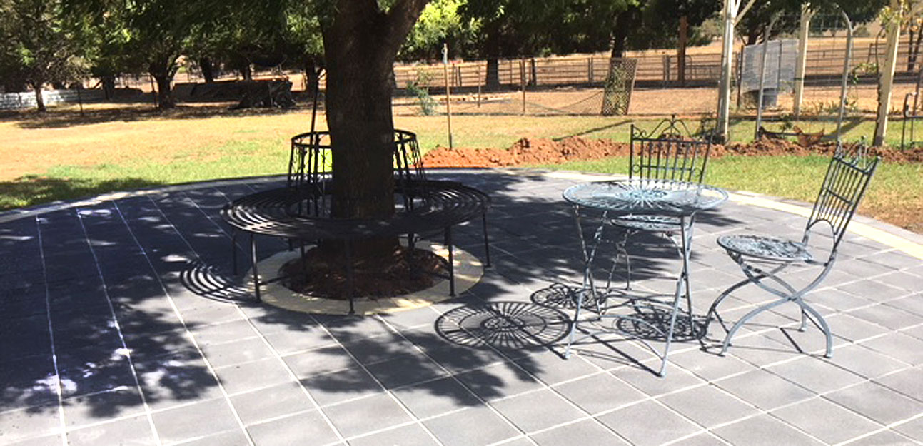 Backyard DIY Patio CCP Flagstone Paver
