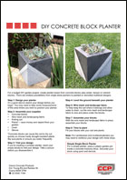 DIY Concrete Block Planter instructions