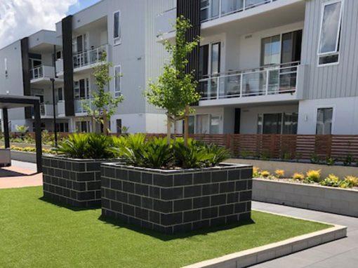 Concrete Block Garden Beds, Idalia Apartments ACT