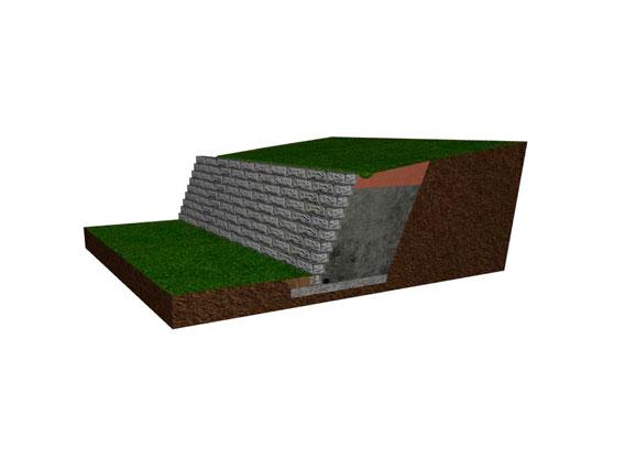 3d model retaining wall design