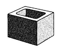 grey block 20.02 hollow half