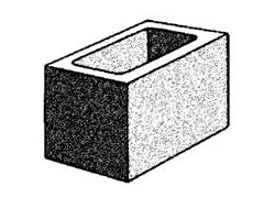 grey block 20.02 hollow three quarter