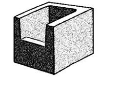 grey block 20.43 closed end - half