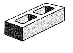 grey block 15.71 hollow - half high