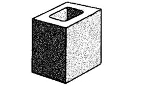 grey block 15.03 hollow - half