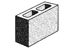 grey block 10.02 hollow - three quarter