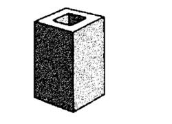 grey block 10.04 hollow - quarter