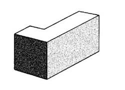 grey block 10.25 solid corner return