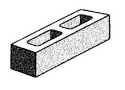Grey Block 10.71 Hollow-half high