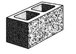 20.121 Hollow full length split face block
