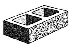 20.127 hollow - half high split face block