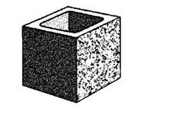 20.123 Hollow - half split face block