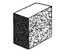 10.123 Solid half split face block