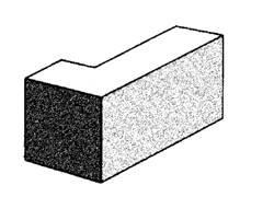 10.25 Solid - corner return split face block