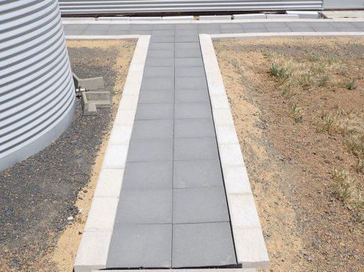 Paver and Edge Block Pathway