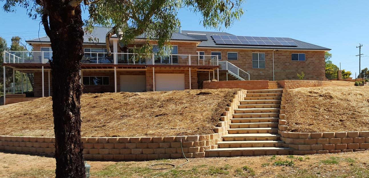 retaining wall cowra concrete products norfolk and tasman blocks