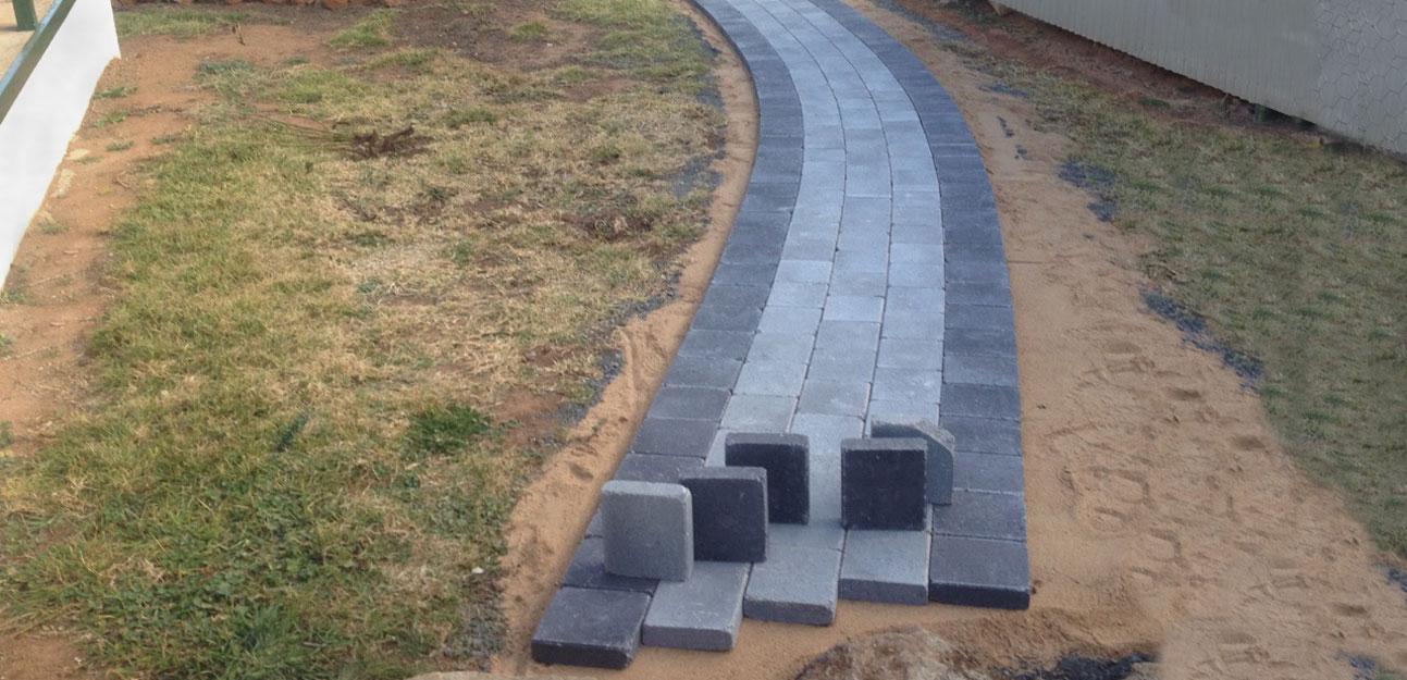 tumbled cobblestone path detail cowra concrete products