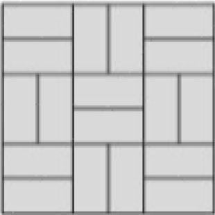 basket weave paver layout