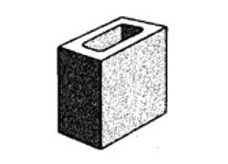 grey block 10.03 hollow - half