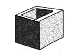 grey block 20.03 hollow half