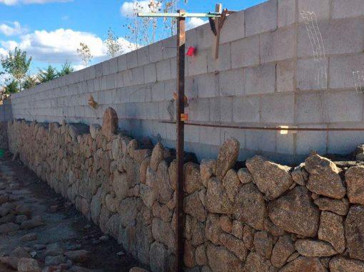 Grey Block Retaining Wall