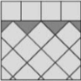 half-diamond inlay paver layout