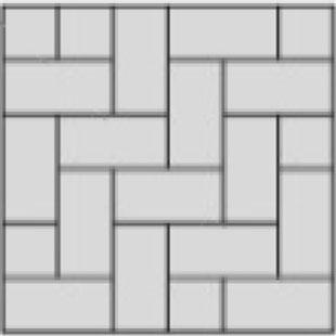 herringbone 90 paver layout