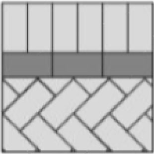pencil line tray paver layout
