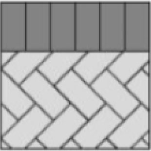 soldier header paver layout