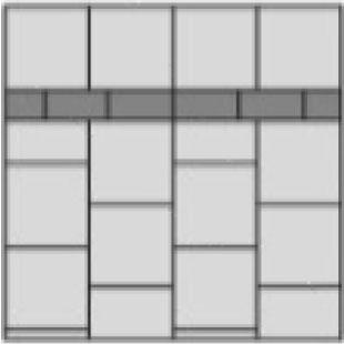 stretcher bond inlay paver layout