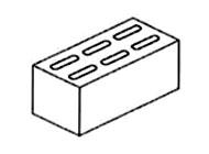 concrete brick 230 x 110 x 75mm