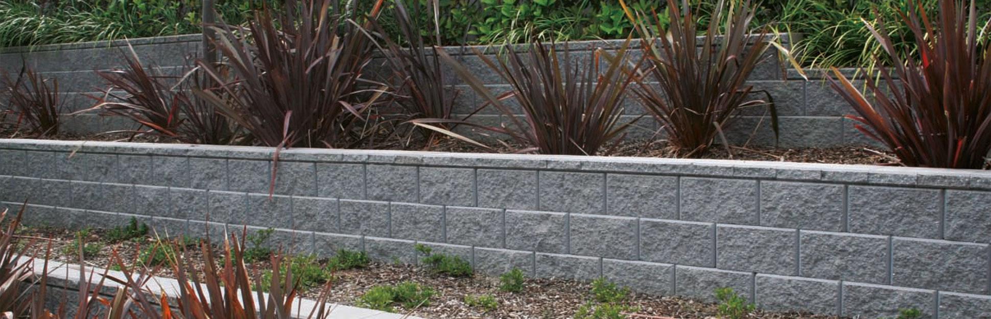 Tasman concrete block retaining wall system