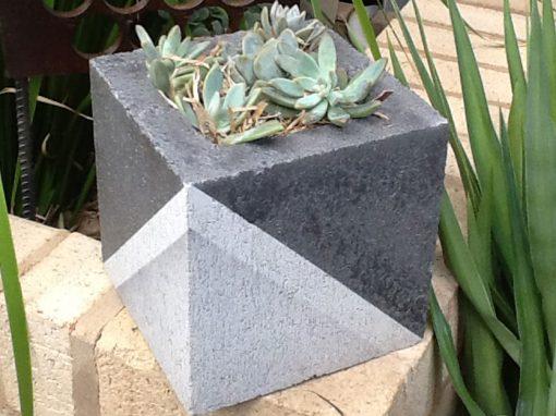 DIY Concrete Block Planter